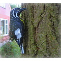 woodpecker plastic garden tree birdfriday