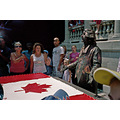 Canada Flag picture busker mime outside 2007 theater Sculpture people