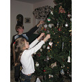 Three of the grandchildren always decorate our tree for us.   These three get to do a lot with us...