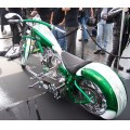 chop custom chopper bike motorcycle green american NewYork