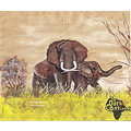 elephants postercolor painting