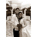 wedding hawaii temple black white