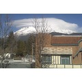 View of Mt Shasta from the Office where I work. The clouds are swirlin today!