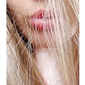 girl portrait face partial lips hair closeup
