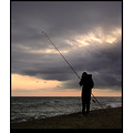 pescando fishing sunset beach playa