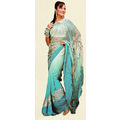 Sky Blue Georgette Saree with Blouse