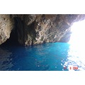 The Blue cave 2 miles out of Skopelos Isl...