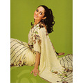 Fawn Georgette Saree with Blouse