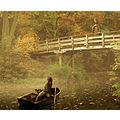 autumn blessing montage boat lake sister bridge fantasy symbolism