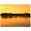 sunset over the Reichenau