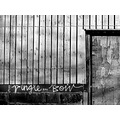 mono grafitti doorway fence wall