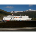 boats boat ship ships white mountains snow Norrna ferry Iceland