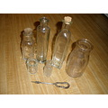 SSPHOTOSHOP BOTTLES HONEY MILK MEDICINE ANTIQUE VINTAGE