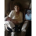 my mother with my new great grandaughter Hannah-may