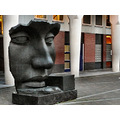 statue face thehague holland jeever jolie stone architecture