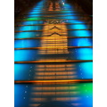 stairs lights blue ship