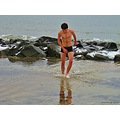Winter Bathing Cold Sea Klitterhus Skalderviken Skane Sweden 2013 Boy
