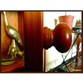 wood doorknob