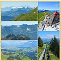 moleson gruyeres view swiss mountains switzerland collage