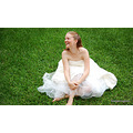 Portraits Wedding Dress Grass Girl