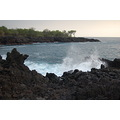 Hawaii Kona cliffs ocean surf