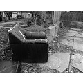 alley blackwhite bw garbage trash chair