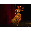 some movement blur in the burlesque dancer