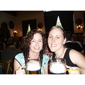 rosa and i drinking steins