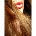 face lips hair closeup emo longing desire