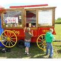 kids enjoying popcorn wagon