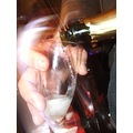 champagne hand glass bubbly celebrate party