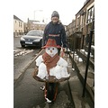 forfar angus scotland scottish snowman snow march