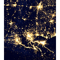 Louisiana at night. Source:NASA