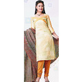 Off White Cotton Kameez with Churidar