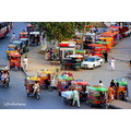 rikshaw vehicles colorful