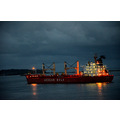 zuiderdam cruise ship tanker sea panama night