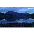 View up Loch Leven to hills Sgorr Dhearg and Sgorr Dhonuill