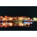 Martigues by night, the blue bridge   France