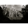 Zion National Park Utah black and white mountain