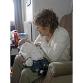 my mother with my new great grandaughter hannah may