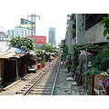 Living on the railroads tracks of Bangkok Thailand