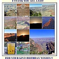 Grand Canyon Arizona USA collage