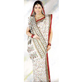 Off White Cotton Saree with Blouse