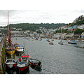 0195 Coprnwall Looe UK Boat Moored Sea Coast