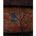house wall roof brick window abstract surrealism