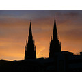 sunset sky steeples spires