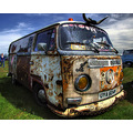 Volkswagen van battered rust santa pod vw