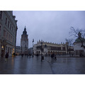 Cracow market in rainy evening