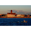 echo arena liverpool mersey river lifeboat men cathedral landscape