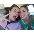 Gina and I on the drive up to Lubbock (we're at a stop light, no worries) This was right after BE...